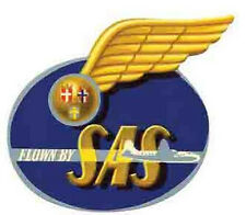 SAS (Scandinavian)  Airlines -Wings Vintage-Looking  Sticker/Decal/Luggage Label