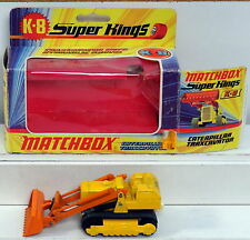 DTE LESNEY MATCHBOX SUPERKINGS SK-8 CATERPILLAR TRAXCAVATOR W/O DRIVER NIOB