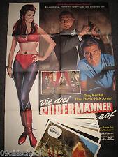 Die drei supermänner räumen auf 24 Aushangfotos + Plakat A1- Fantastic Three To
