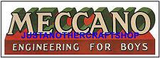Meccano Vintage 1960's Poster Leaflet Advert Shop Display Sign