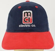 MCI Electric Company Safety First Navy Blue Baseball Cap Hat Adjustable