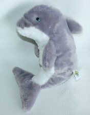 "The Petting Zoo 12"" DOLPHIN Plush Lovey Toy Ocean Animal Stuffed Blue eyes"
