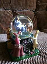 "Disney Winnie The Pooh Eeyore ""Rumbly In My Tumbly"" Musical Snowglobe Excellent"