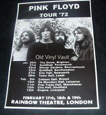 Pink Floyd concert poster UK Tour 1972 new A3 size repro