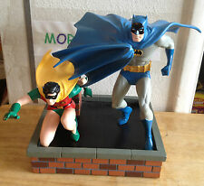 """BATMAN AND ROBIN STATUE 196/850 SILVER AGE DYNAMIC DUO 9.5"""" DC DIRECT PAQUET"""