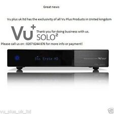 GENUINE VU+ Solo 2 Full HD DVB-S2 Twin Satellite Reciever Linux HDTV PVR Ready
