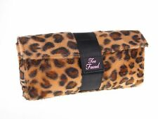 Too Faced Faux Fur Leopard Cosmetic Make up Bag Case Travel Toiletry ~ Free P/P