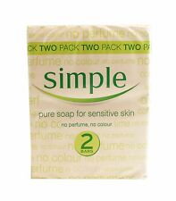 2 Pack Pure Soap For Sensitive Skin By Simple 2-Pack