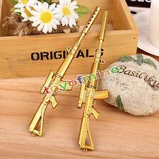 Gold-Gewehr Form Schwarz Tinte Kugelschreiber Stationery Office Kugelschreiber