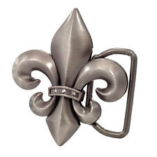 Antique Silver Fleur de Lis Belt Buckle Belt Buckle Fun Hip Cool