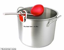New Tovolo Red Soup Serving Canning Ladle  Stainless Steel  Silicone  Ninja Safe