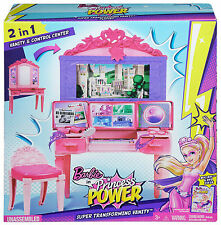 Barbie cdy64-Princess Power superhéroe Vanity Playset ** Compra Hoy **