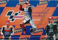 Jorge Lorenzo SIGNED MotoGP Champion Catalunya YAMAHA 12x8 Photo AFTAL