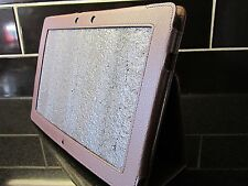 Brown PU cuir sacoche / Housse / support pour asus eee pad tf201 transformer prime
