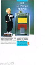 PUBLICITE ADVERTISING 065  1986  ASFUEL   le chauffage au fuel