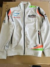 Aprilia Racing Sweatshirt Jumper Zip Up Motorbike Motorcycle S M L Official