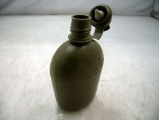 GENUINE USGI US MILITARY SURPLUS 1 QUART PLASTIC WATER CANTEEN - ARMY OD GREEN