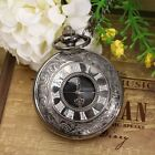 Classic Vintage Roman Numerals Steampunk  Pocket Watch Chain Pendant