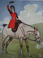 Fox Hunt Lady Fox Hunter Frederic Whiting 1907 Print 8110
