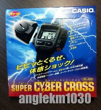 casio vintage JG-200 Cyber Cross game Watch Tv Control 1995 Nos