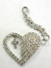Crystal Rhinestone Charm Heart Cross Purse Backpack