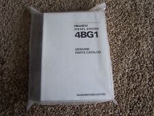 Isuzu 4BG1 4 B G 1 Diesel Engine Factory Original Parts Catalog Manual