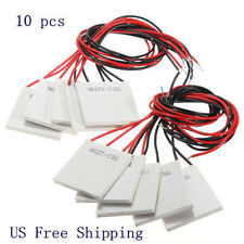 10PCS 12V 60W TEC1-12706 Heatsink Thermoelectric Cooler Peltier Cooling Plate AP