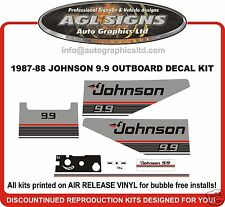 1987 1988  JOHNSON 9.9 hp  DECAL SET OUTBOARD STICKERS REPRODUCTIONS