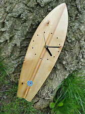 "Surfboard Shaped Wall Clock ""Hand Crafted"""