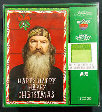 Duck Dynasty Happy Redneck Christmas Holiday 18 Cards Envelopes A&E 2013