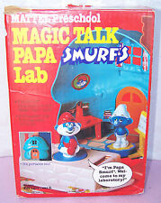 RARE 1983 VINTAGE Mattel Preschool Magic Talk PAPA SMURF 'S LAB - SMURFS HOUSE