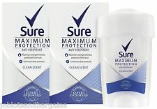2 x 45ml Sure Maximum Protection 48H Anti-Perspirant Deodorant - Clean Scent