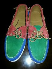 NIB POLO RALPH LAUREN TELFORD II LEATHER BOAT SHOE MSRP $325.00 SZ 10.5