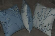 Laura Ashley Pussy Willow Seaspray Blue Fabric Cushion Cover Reversible