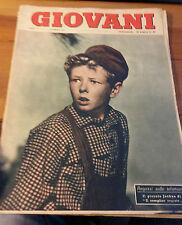 """RIVISTA """" GIOVANI """" N.6 1953 JOSHUA ATTORE DE  """" IL COMPLICE SEGRETO """" (L-G)"""