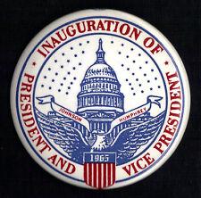"""1965 Lyndon Johnson & Hubert Humphrey 3-1/2"""" Inaugural Button (Pin 01)"""