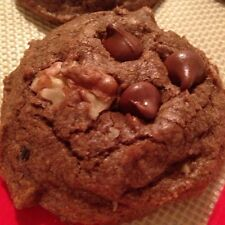 A Pound of Homemade Chocolate Chocolate Chip Cookies with Walnuts