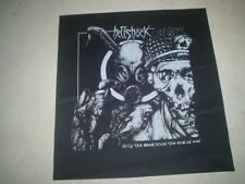 "HELLSHOCK ""ONLY THE DEAD KNOW THE END OF WAR"" BACK PATCH TRAGEDY PUNK HARDCORE"