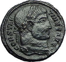 Constantine I the Great 328AD Ancient Roman Coin Military camp gate i57916
