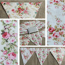 Summer Floral Print Card Bunting.Party, Barbeque, Wedding, Garden, Garland,Flags