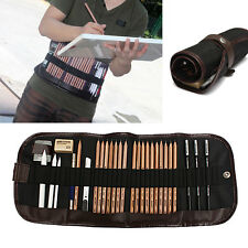 29PCS Set Sketch Pencils Charcoal Extender Eraser Paper Pen Cutter Drawing Tool