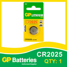 GP Lithium Button Battery CR2025 (DL2025) card of 1 [WATCH & CALCULATOR + OTHER]