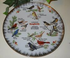 CANADIAN CANADA SONGBIRDS BIRDS COLLECTIBLE PLATE NUMBERED HANDPAINTED #3-T