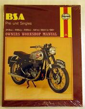 Haynes Reperaturbuch Instruction manual BSA Preunit Singles 1954-61