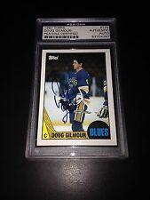 Doug Gilmour Signed 1987-88 Topps St. Louis Blues Card PSA Slabbed #83704387