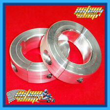 "GO KART "" 40MM AXLE COLLARS "" A PAIR SPLIT TYPE ALLOY COLLAR PREVENT AXLE SLIP"