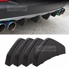 Rear Bumper Diffuser Molding Point Garnish Trim Matt Black for ACURA Car