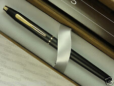 CROSS CENTURY MADE IN USA  SATIN MATTE BLACK  & 23K GOLD   ROLLERBALL PEN