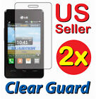2x LG 840G LG840G Tracfone Clear LCD Screen Protector Guard Shield Cover Film