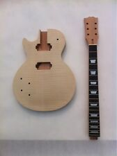 1set Left Handed Unfinished electric guitar body with neck LP parts